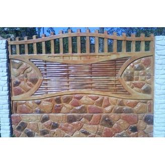 Забор декоративный №8 Камень-галька узорчатая 1,5х2 м