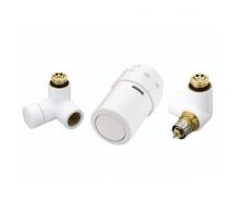 Комплект для подключения к радиаторам слева Danfoss RAX-set белый RAL9016 (013G4008)