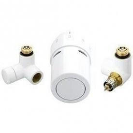 Комплект для підключення до рушникосушки справа Danfoss RAX-set білий RAL9016 (013G4136)