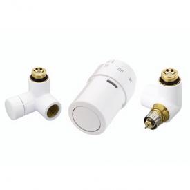 Комплект для підключення до радіаторів зліва Danfoss RAX-set білий RAL9016 (013G4008)
