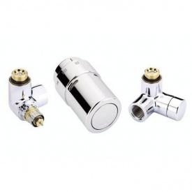 Комплект для підключення до радіаторів зліва Danfoss RAX-set хромований (013G4004)