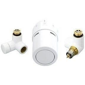Комплект для подключения к полотенцосушителям справа Danfoss RAX-set белый RAL9016 (013G4136)