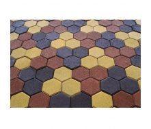 Тротуарна плитка Золотий Мандарин Сота на сірому цементі 140х125х60 мм