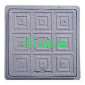 Люк пластмассовый квадратный 500х500 мм черный (13.08.4)