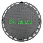 Люк садовый пластмассовый легкий №2 1 т черный (13.00.5)