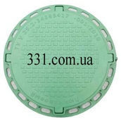 Люк садовый пластмассовый легкий №2 1 т зеленый (13.00.7)