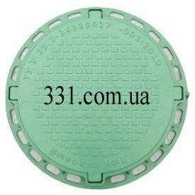 Люк садовий пластмасовий легкий №2 1 т зелений (13.00.7)