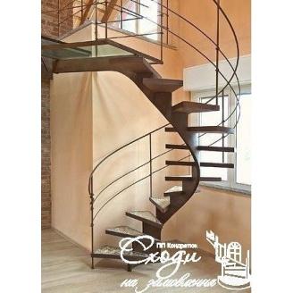Гвинтові сходи в стилі хай-тек