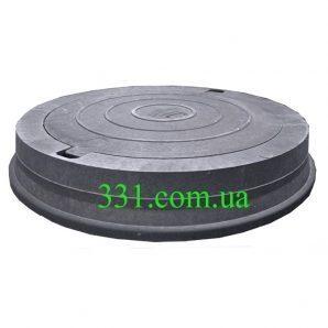 Люк магистральный канализационный полимерпесчаный (Д400) 40 т с замком черный (14.32.1)