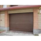 Ворота секційні гаражні коричневий RAL8014