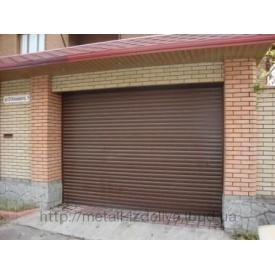 Ворота секционные гаражные коричневый RAL8014