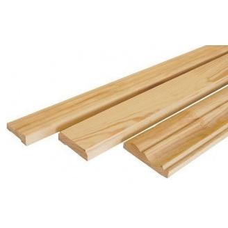 Плинтус половой деревянный 40х50 мм 4,5 м