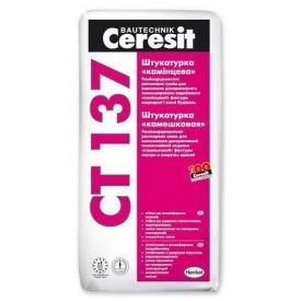 Мінеральна штукатурка Ceresit CT 137 камінцева 1,5 мм 25 кг