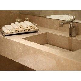 Столешница для ванной из мрамора Botticino