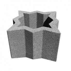 Цветник бетонный Декор Бетон Звезда 450x450x340 мм серый