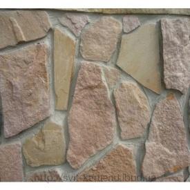 Природный камень кварцито-песчаник розовый
