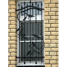 Решітка кована віконна чорна
