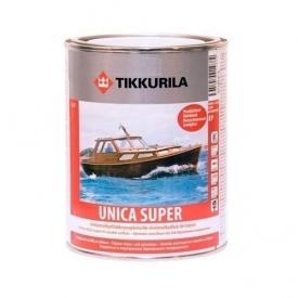 Износостойкий уретано-алкидный лак Tikkurila Unica Super pk 2,7 л полуглянцевый