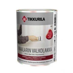 Алкидная краска для внутренних работ Tikkurila Maalarinvalkolakka 0,3 л белая