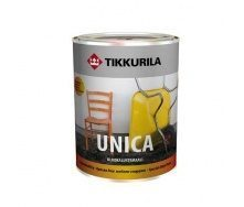Алкідна фарба спеціального застосування Tikkurila Unica ulkokalustemaali 0,225 л напівглянцева