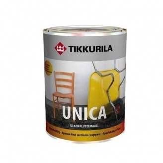 Алкідна фарба спеціального застосування Tikkurila Unica ulkokalustemaali 0,3 л напівглянцева