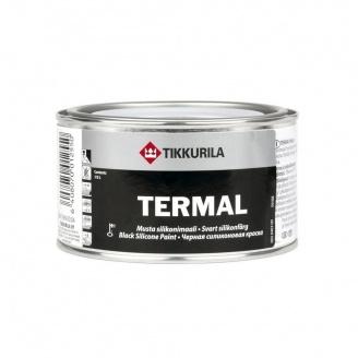 Термал силиконовая краска Tikkurila Termal musta silikonimaali 0,1 л черная