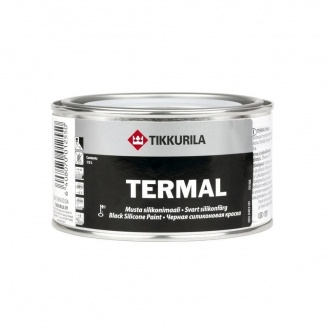 Термал силіконова фарба Tikkurila Termal musta silikonimaali 0,1 л чорна