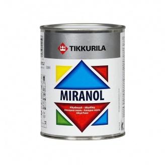 Тиксотропная алкидная эмаль Tikkurila Miranol alkydimaali 2,7 л высокоглянцевая