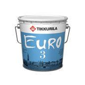 Латексная краска Tikkurila Euro 3 9 л глубоко матовая