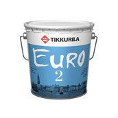 Латексная краска Tikkurila Euro 2 9 л глубоко матовая