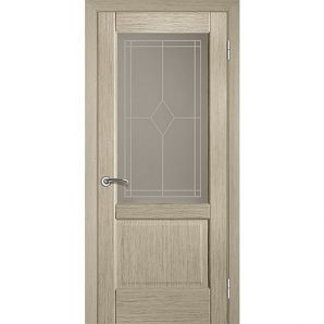 Міжкімнатні двері TERMINUS Modern Модель 18 засклені білений дуб
