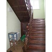 Деревянная лестница П-образная