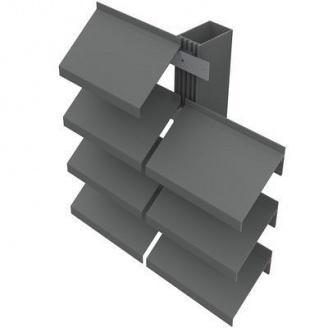 Система паркинговых навесных ламелей Талисман ГОРИЗОНТ 100 мм