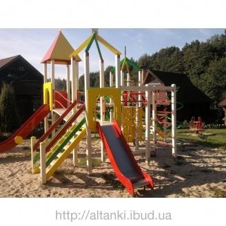 Деревянная детская площадка Радуга