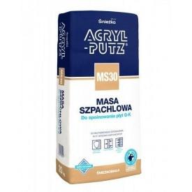 Высокоэластичная шпаклевка Sniezka Acryl-putz MS30 5 кг белоснежная