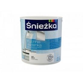 Латексная краска Sniezka Kuchnia-lazienka 2,5 л белая