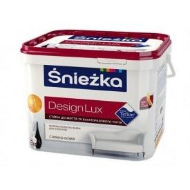 Матовая латексная краска Sniezka Design Lux 1,4 кг снежно-белая