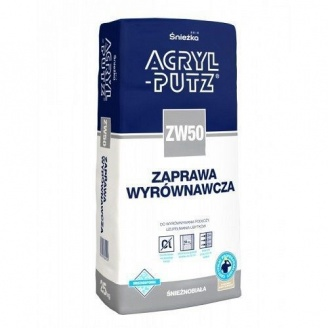 Смесь для выравнивания Sniezka Acryl-putz zw 50 zaprawa 25 кг белоснежная