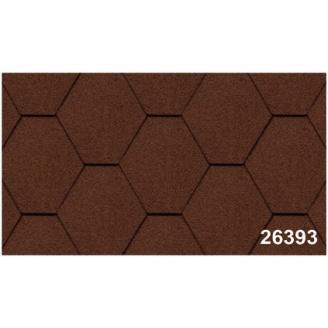 Битумная черепица Kerabit K Тройка однотонная коричневая