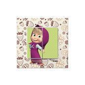 Выключатель двухклавишный VIKO KARRE Kids Маша и ягоды (90962746)