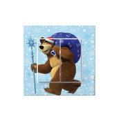 Выключатель двухклавишный VIKO KARRE Kids Медведь с подарком (90962744)