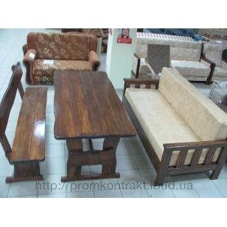 Стіл дерев'яний для ресторану 2000х800х770 мм тик