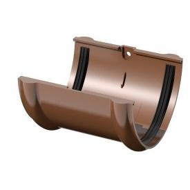 Муфта желоба с вкладкой Wavin Kanion 100х200 мм коричневая