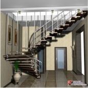 Мармурові сходи з металевими поручнями