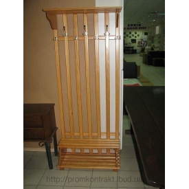 Вешалка напольная деревянная 1880х370х450 мм