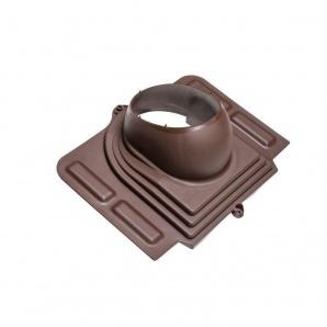 Прохідний елемент VILPE PELTI для труб діаметр 110-160 мм під металочерепицю коричневий