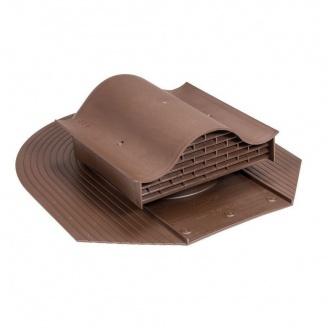 Покрівельний вентиль VILPE HUOPA-KTV 450х378 мм коричневий