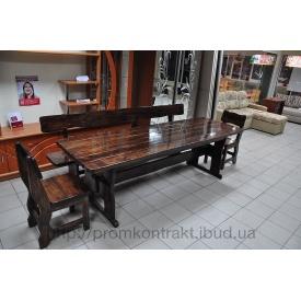 Комплект деревянной мебели для кафе венге 1800х800х770 мм