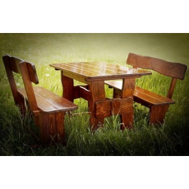 Дачная мебель из натурального дерева