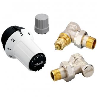 Комплект радиаторных терморегуляторов Danfoss RA-FN, RAS-C, RLV-S угловой (013G5253)